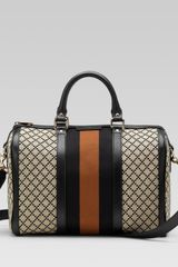 Gucci Vintage Web Boston Bag - Lyst