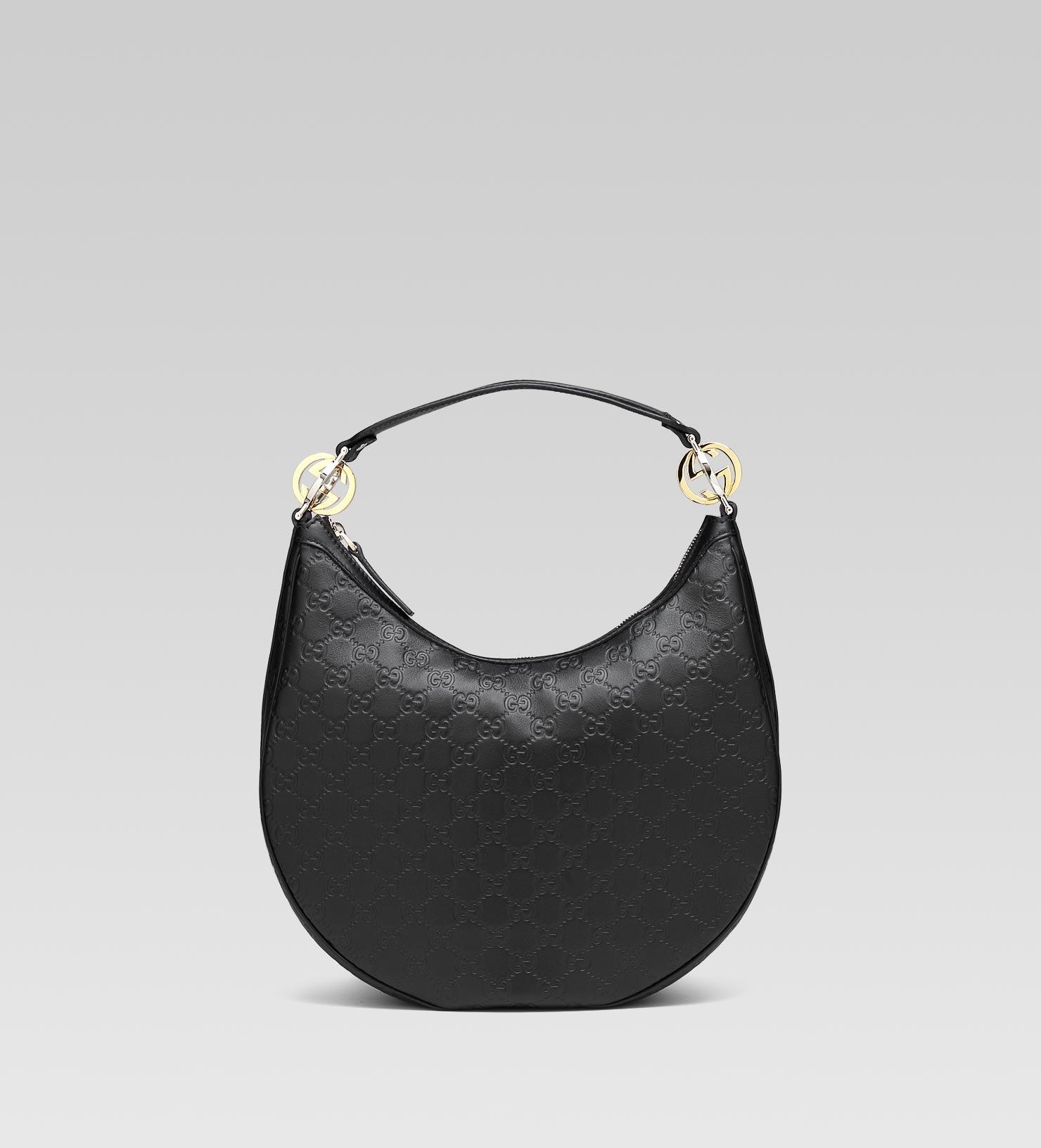 621655420a77 Gucci Gg Twins Medium Hobo with Interlocking G Details in Black - Lyst