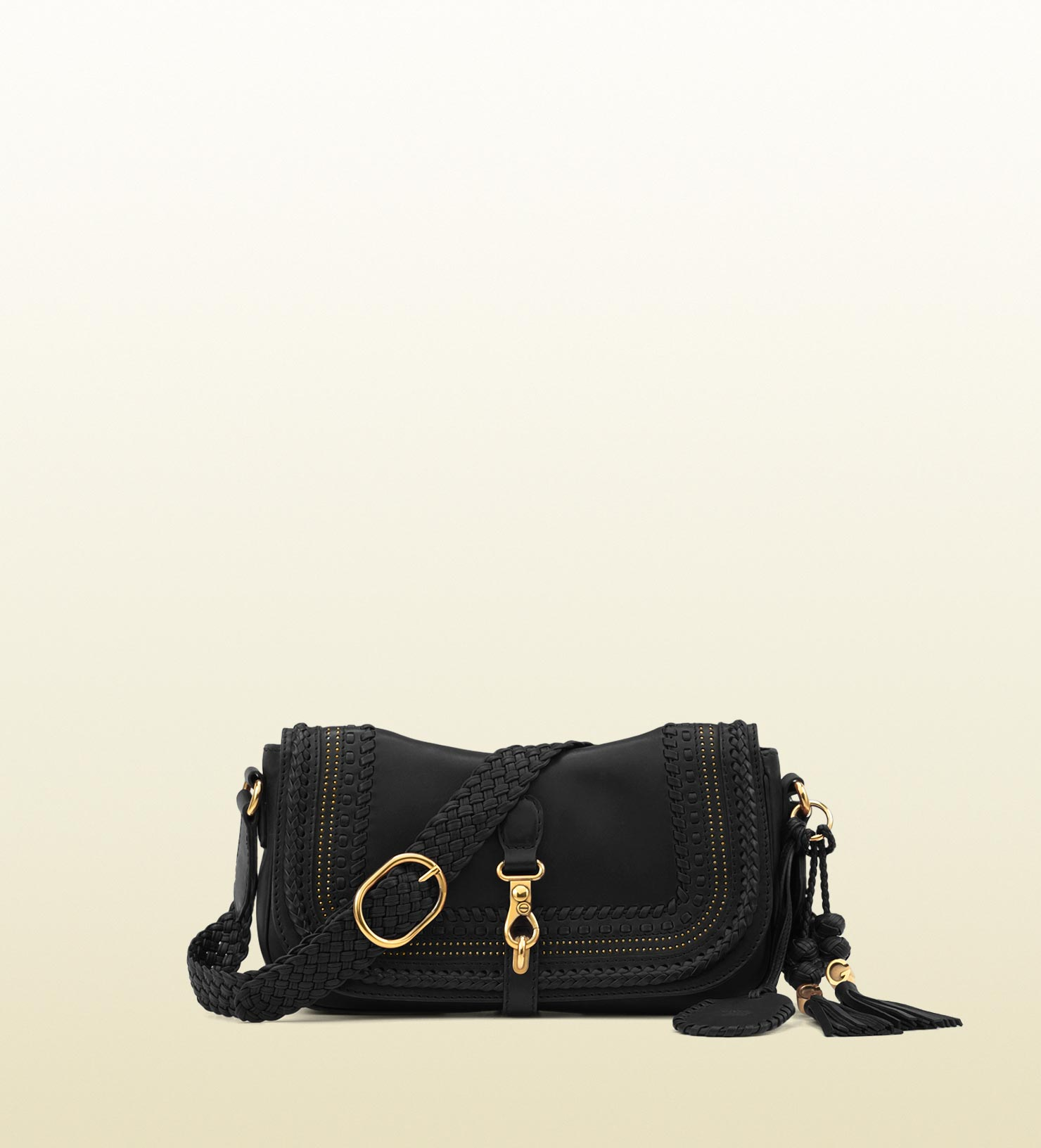 d4a6f2e8e0897c Gucci Handmade Medium Shoulder Bag with Woven Leather Details and ...