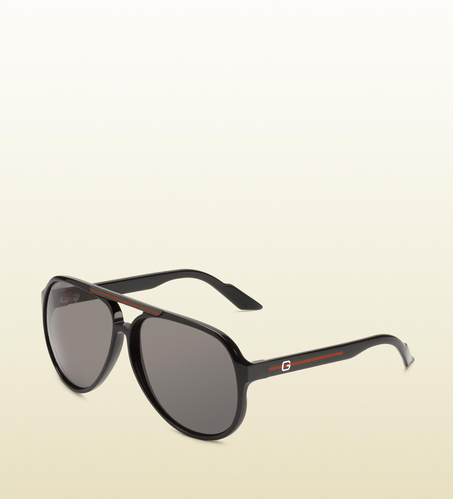 e1fc066f268 Lyst - Gucci Medium Aviator Sunglasses With G Detail And Signature ...