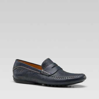 Gucci Penny Loafer Driver with Interlocking G - Lyst