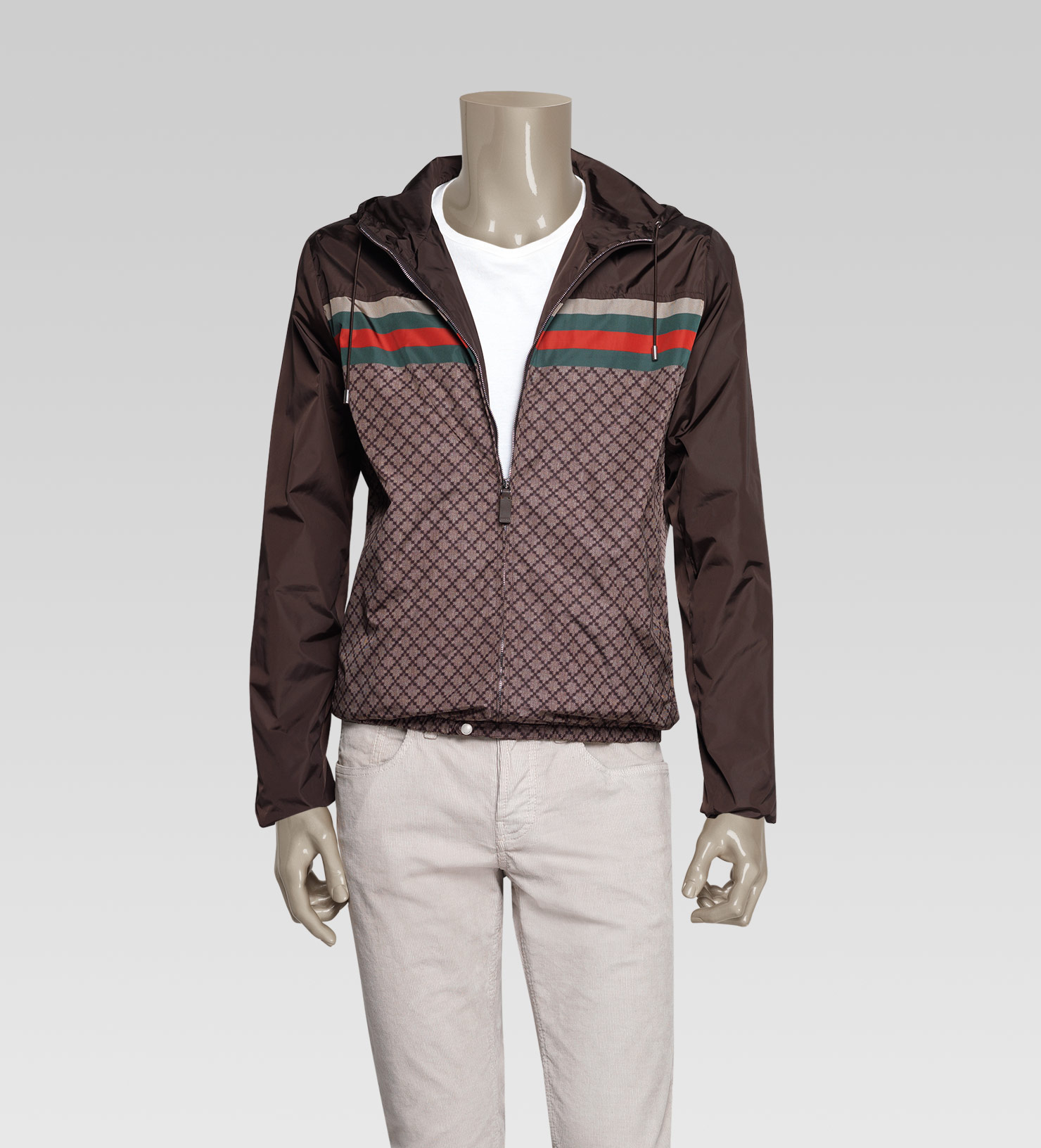 f34157a98 Gucci Iconic Kway Jacket in Brown for Men - Lyst