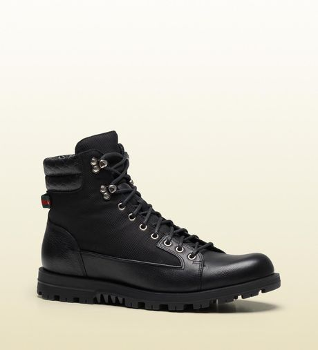 Gucci Trek Boot with Signature Web Detail in Black for Men - Lyst