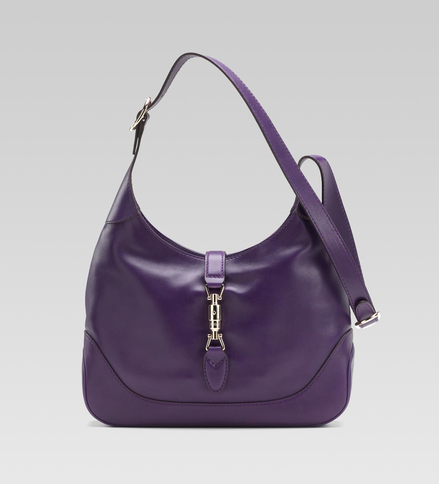 Gucci Jackie Grape Colour Leather Shoulder Bag in Purple | Lyst