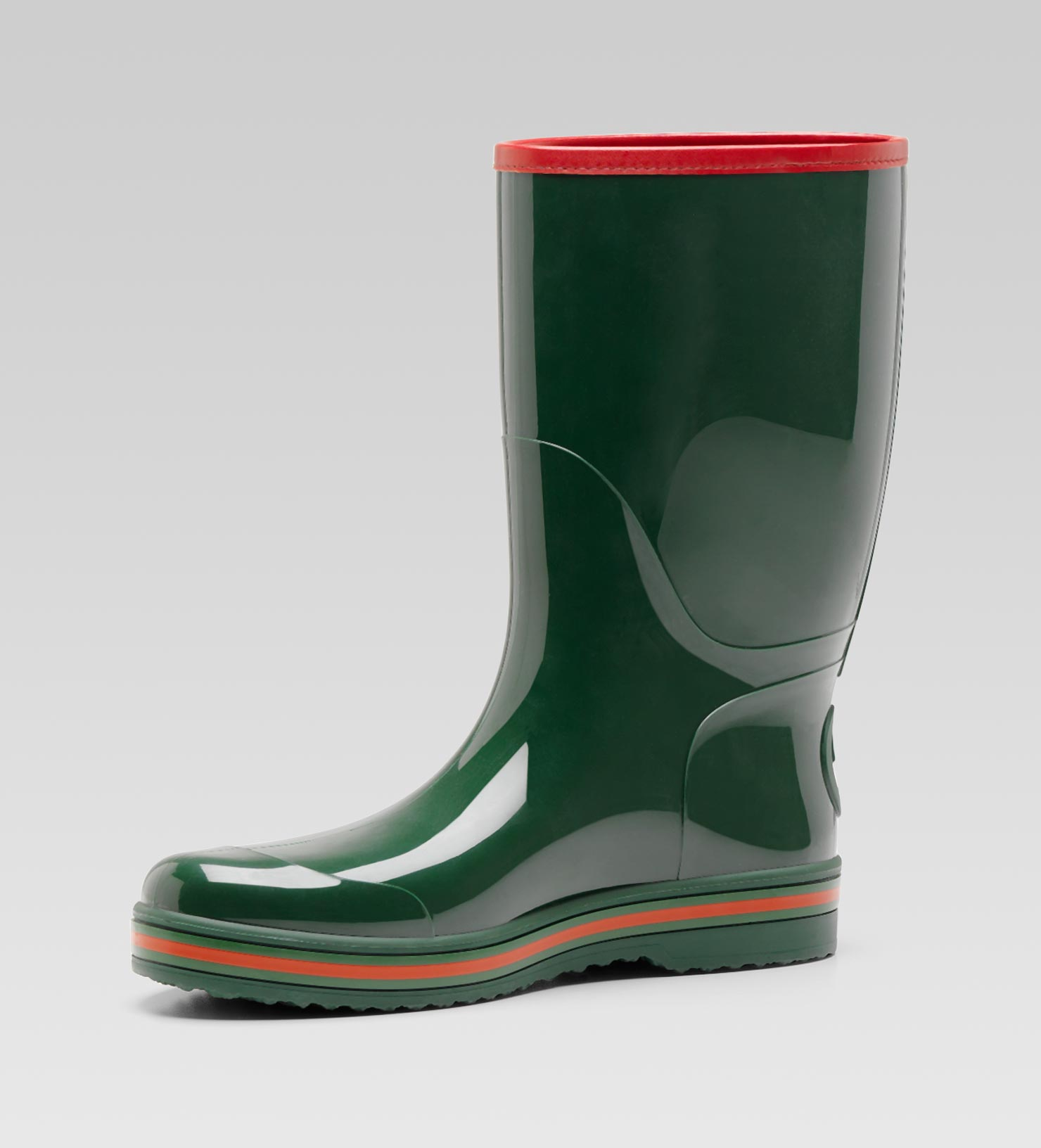 Lyst Gucci Rubber Rain Boot In Green For Men