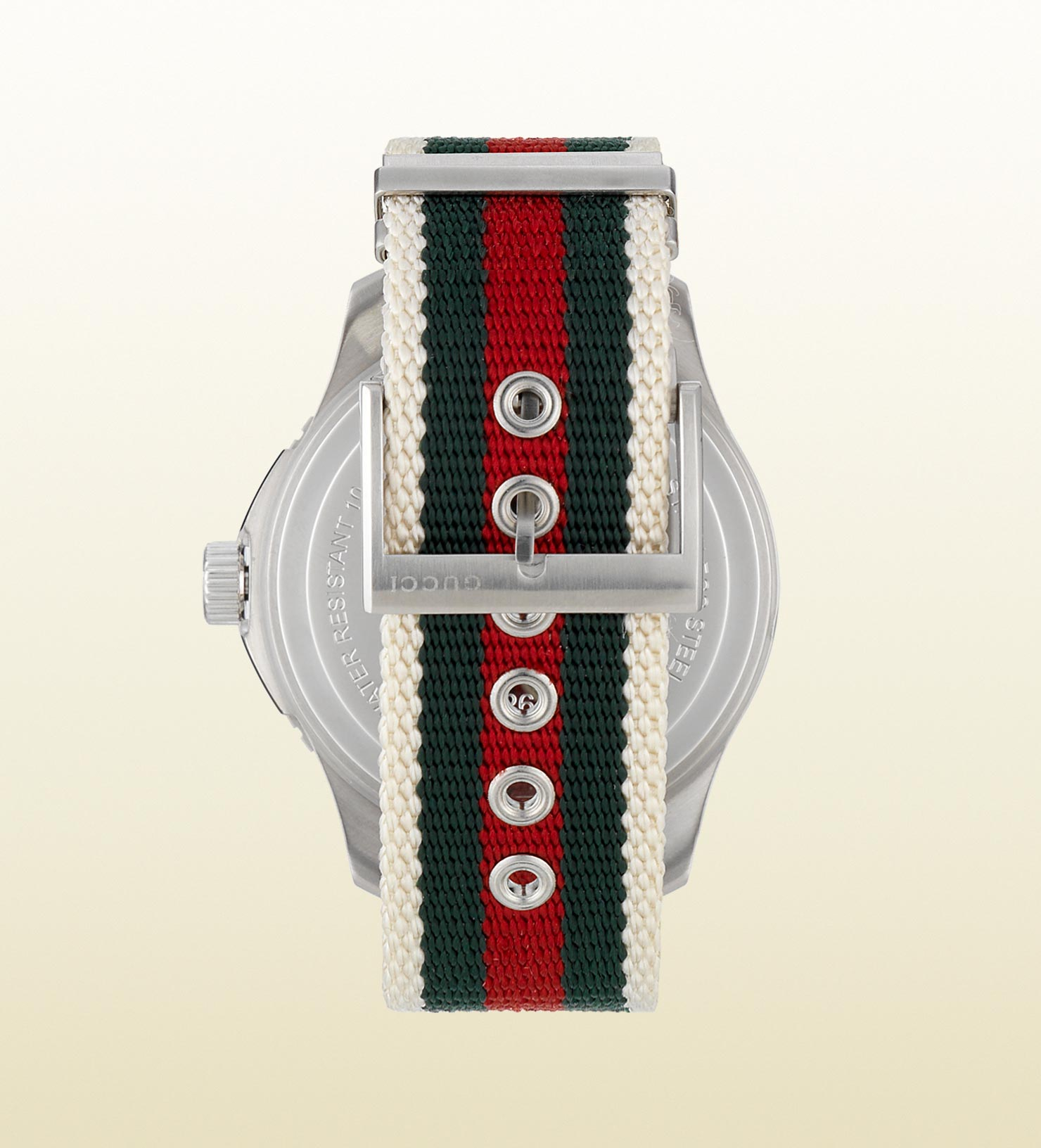 c8737dc86d Gucci G-timeless Sport Extra Large Stainless Steel And Web Watch in ...