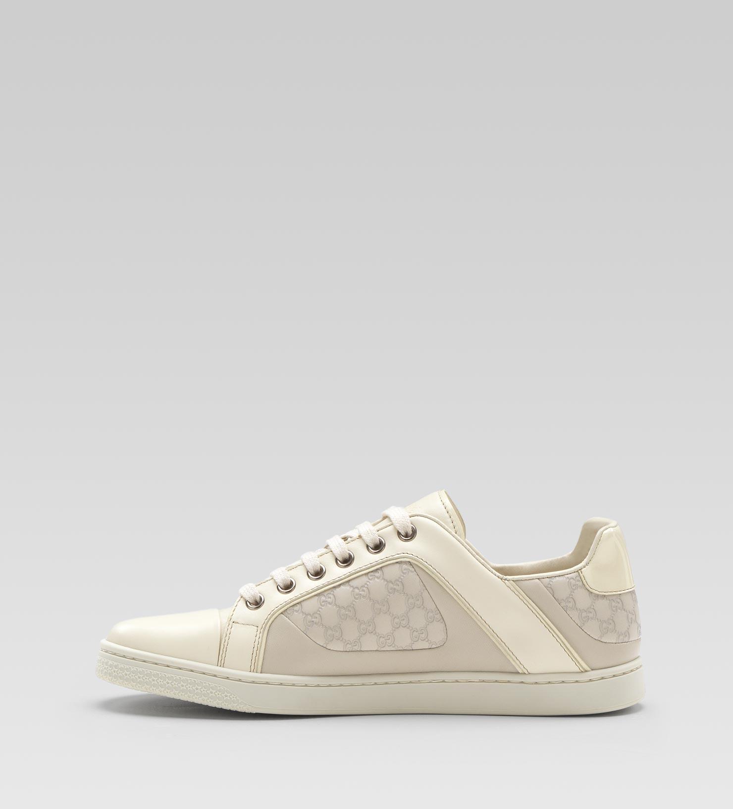 8e64d8987 Gucci Coda Pop Low Laceup Sneaker in White - Lyst