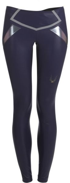 Lucas Hugh Navy Blue Flash Leggings - Lyst