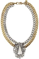 Lulu Frost Deco Crystal Necklace - Lyst