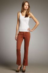 Mother Denim The Runaway New Rust Cropped Skinny Flare Pants - Lyst