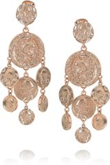 Oscar de la Renta 24karat Rose Goldplated Clip Earrings - Lyst