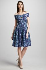 Pamella Roland Floralprint Cocktail Dress - Lyst