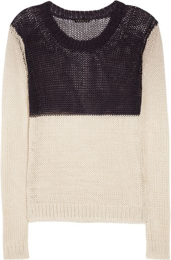 Theory Adoncia Knitted Linen Blend Sweater - Lyst