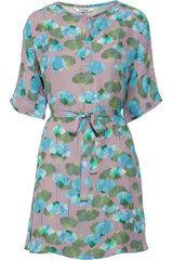 Tucker Floralprint Silk Crepe Dress - Lyst