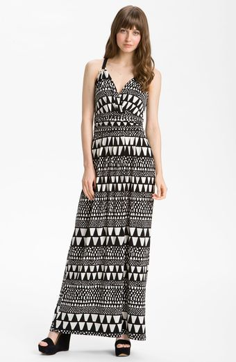 Vince Camuto Geo Stripe Maxi Dress - Lyst