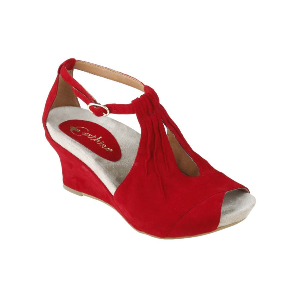 Gallery - Earthies Veria Too Wedge Sandals In Red Lyst