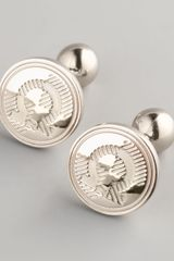 Ferragamo Etched Gancini Cuff Links - Lyst