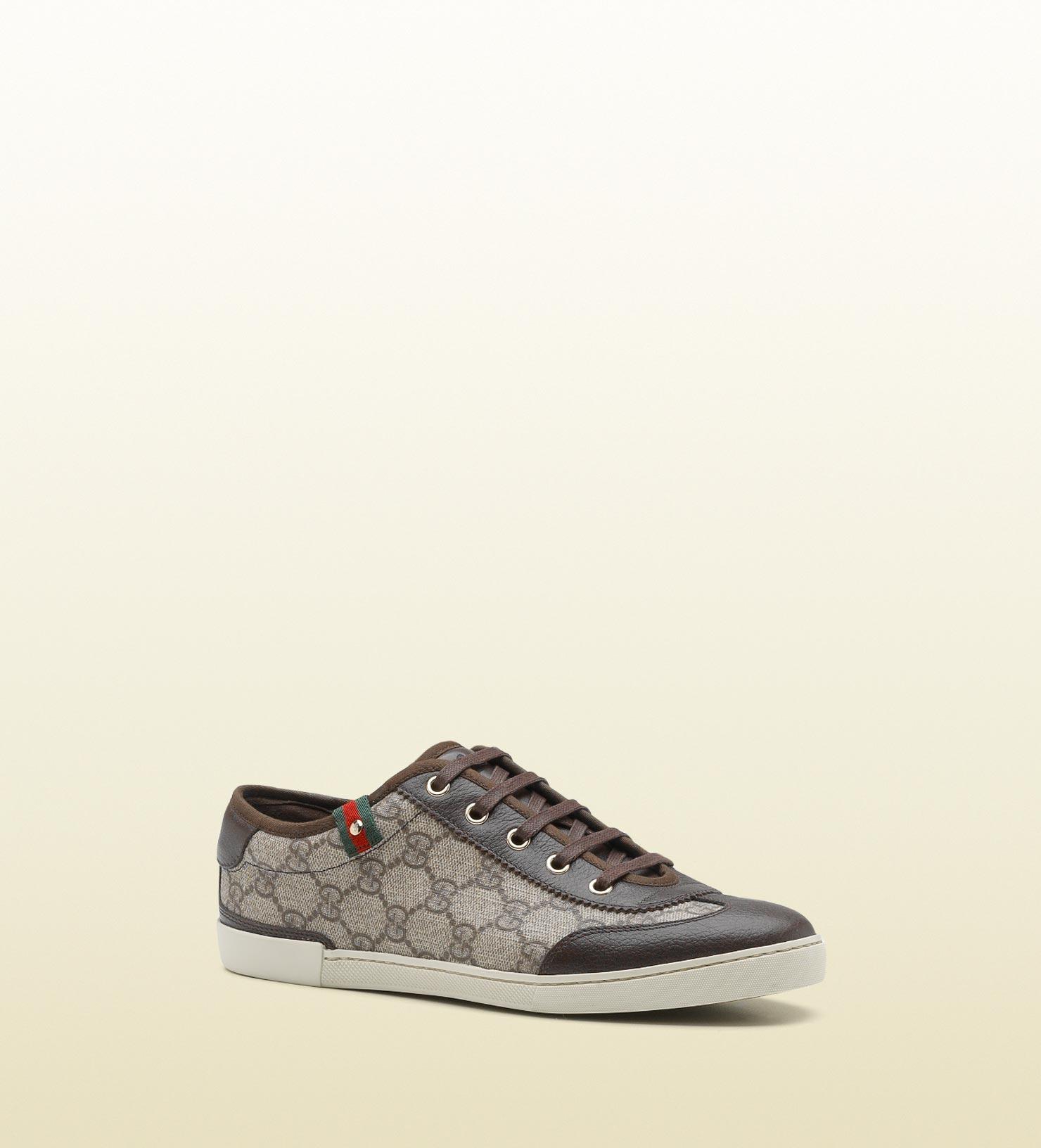 a2e74c21b37fa Lyst - Gucci Barcelona Gg Supreme Canvas Sneaker in Natural for Men