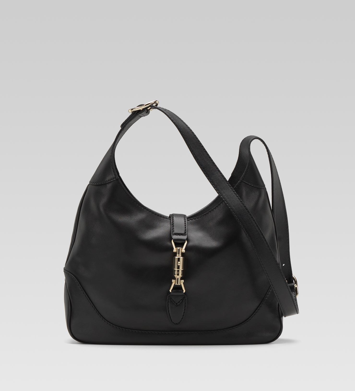 Gucci Jackie Leather Shoulder Bag in Black