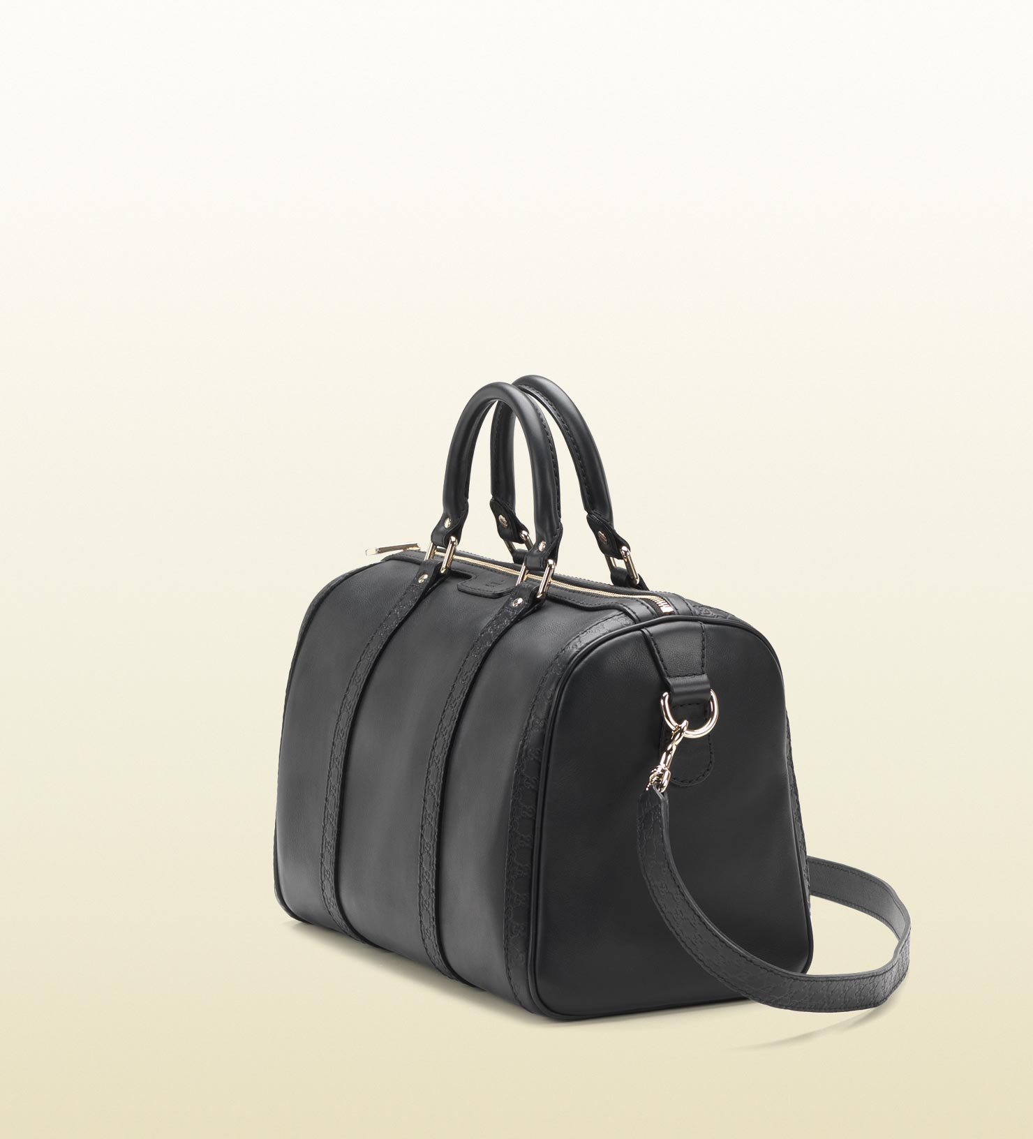 5ee60a2ce2a Lyst - Gucci Vintage Web Black Leather Boston Bag in Black for Men