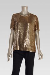 Gucci All Over Sequin Short Sleeve Top - Lyst