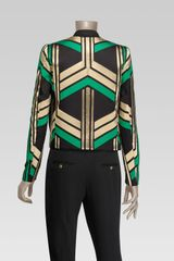 Gucci Round Neck Jacket in Multicolor (black) - Lyst