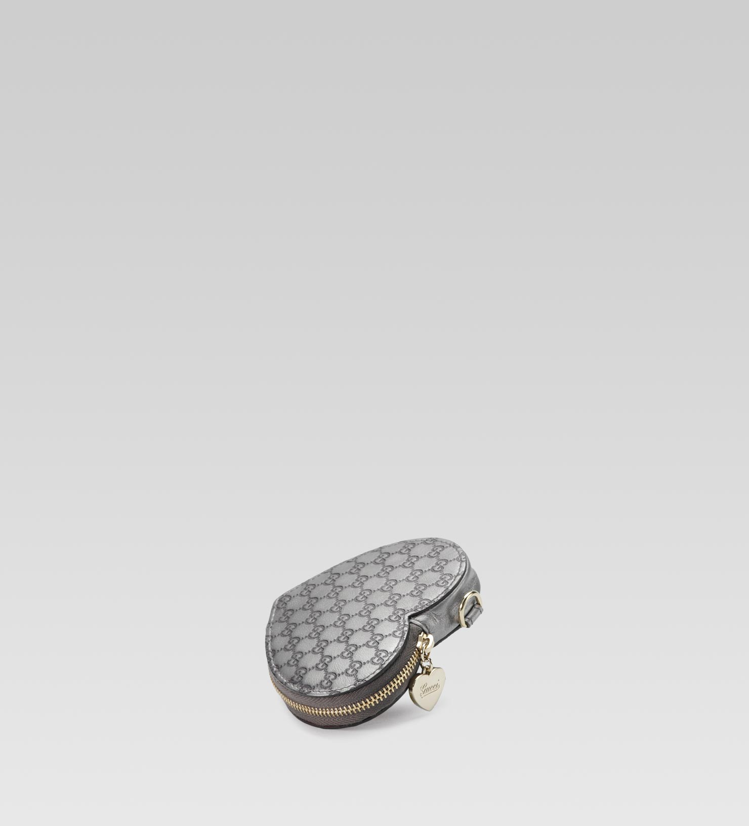 6241acae3e6e Lyst - Gucci Heartshaped Coin Purse in Gray
