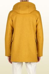 Gucci Montgomery Jacket with Detachable Hood in Yellow for Men - Lyst