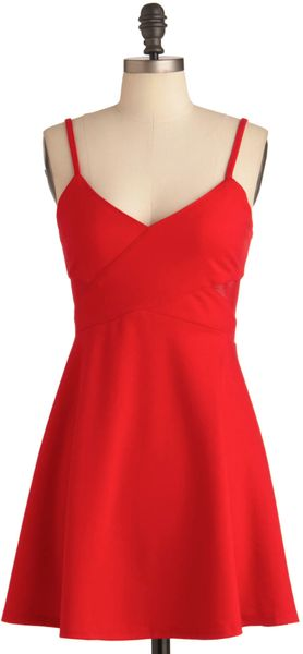 ModCloth Fun in The Crimson Dress - Lyst