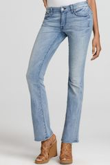 7 For All Mankind Jeans Lexie Petite Bootcut in Warm Bleached Blue - Lyst