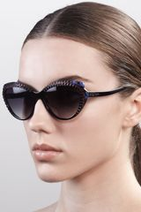 Alexander McQueen Scalloped Modified Cateye Sunglasses - Lyst