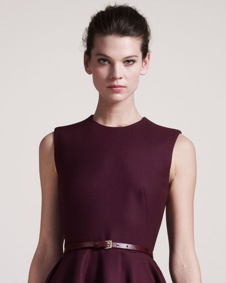Alexander Mcqueen Skinny Belt in Brown (oxblood) - Lyst