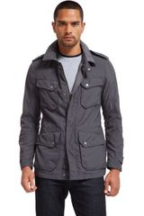 Bonobos Military Field Jacket Grey - Lyst