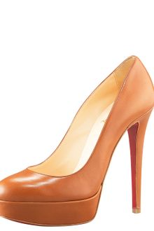 Christian Louboutin Leather Platform Pump - Lyst