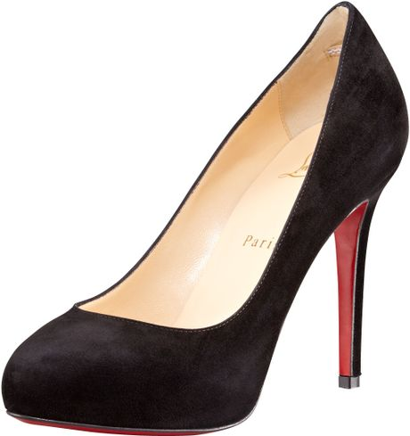 Christian Louboutin New Declic Suede Pump in Black - Lyst