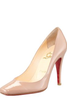 Christian Louboutin Particule 100m Patent Leather Pumps - Lyst