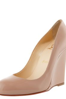 Christian Louboutin Ron Ron Patent Wedge Pump - Lyst