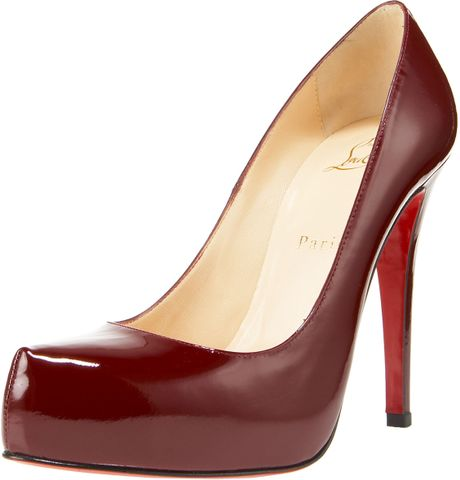 Christian Louboutin Rolando Hiddenplatform Pump Patent Leather in Red - Lyst