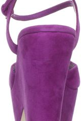 Dolce Vita Dolce Vita Womens Jacobi Wedge Sandal in Purple (magenta suede) - Lyst