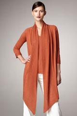 Donna Karan New York Long Knit Sweater in Orange (papaya) - Lyst