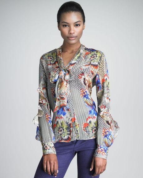 Zara Silk Covered Button Blouse 65
