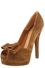 Fendi Deco Leopardprint Suede Pump - Lyst