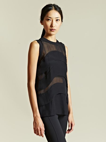 Givenchy Givenchy Womens Curve Top in Black - Lyst