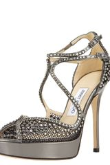 Jimmy Choo Fairview Crystal-mesh Platform Sandal - Lyst