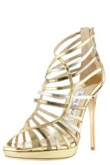 Jimmy Choo Virginia Mixedmetallic Strappy Sandal - Lyst