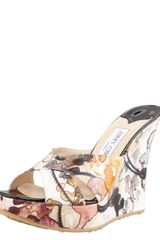 Jimmy Choo Phyllis Floral Wedge Slide - Lyst