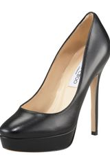 Jimmy Choo Cosmic Leather Platform Pump - Lyst