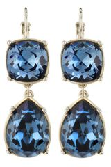Kenneth Jay Lane Sapphire Blue Rhinestone Earrings - Lyst