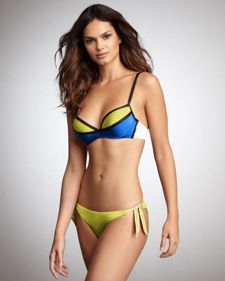 La Perla Modern Art Colorblock Bikini in Blue (blu) - Lyst