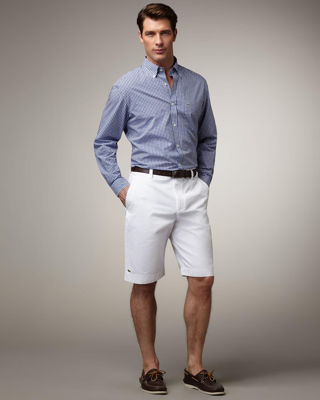 Lacoste Classic Bermuda Shorts White in White for Men | Lyst